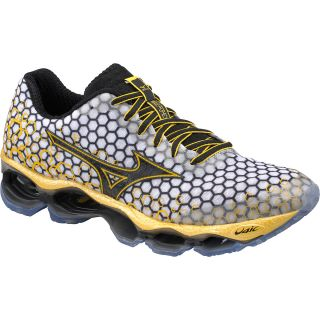 MIZUNO Mens Wave Prophecy 3 Running Shoes   Size 10.5, White/black/yellow