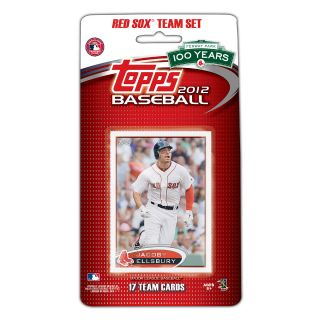 Topps 2012 MLB Boston Red Sox Official Team Baseball Card Set of 17 Cards
