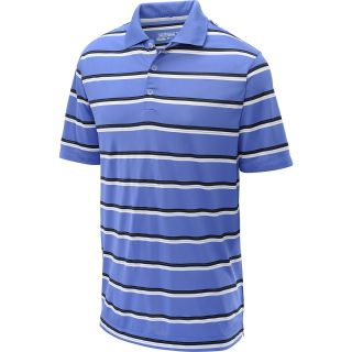 NIKE Mens Ultra Stripe Golf Polo   Size Large, Violet/white