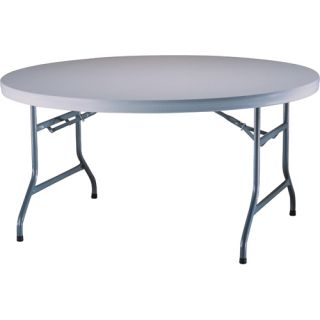 Lifetime 5 Round Utility Table (Case Pack of 4 Tables)   Size 60 Round, White