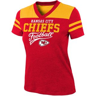 NFL Team Apparel Girls Kansas City Chiefs Burn Out Jersey Short Sleeve T Shirt