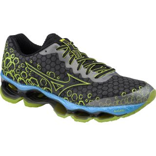 MIZUNO Mens Wave Prophecy 3 Running Shoes   Size 9, Slate/lime