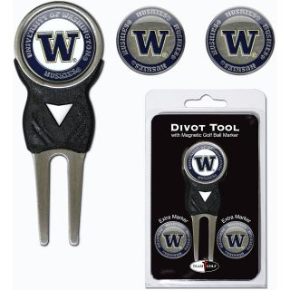 Team Golf University of Washington Huskies 3 Marker Signature Divot Tool Pack