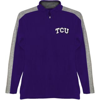 T SHIRT INTERNATIONAL Mens TCU Horned Frogs BF Conner Quarter Zip Jacket