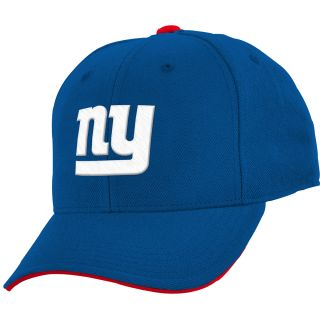 NFL Team Apparel Youth New York Giants Basic Structured Adjustable Cap   Size