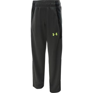 UNDER ARMOUR Boys Shot Caller Knit Warm Up Pants   Size Large, Charcoal/black