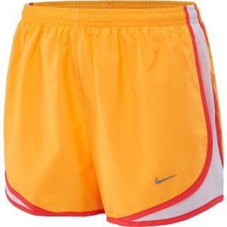 NIKE Womens Tempo Running Shorts   Size Large, Atomic Mango/crimson