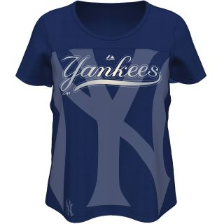 MAJESTIC ATHLETIC Womens New York Yankees Team Fanatic Short Sleeve T Shirt