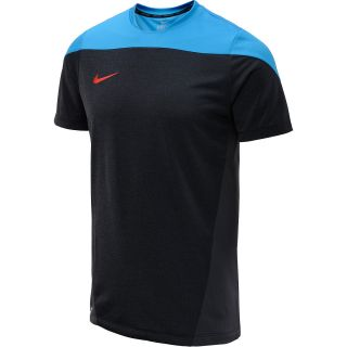 NIKE Mens Squad Heather Short Sleeve Soccer Shirt   Size XS/Extra Small,