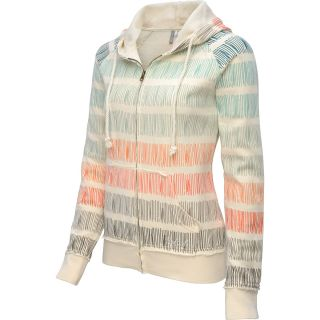 RIP CURL Womens Low Tide Full Zip Hoodie   Size XS/Extra Small, Vanilla