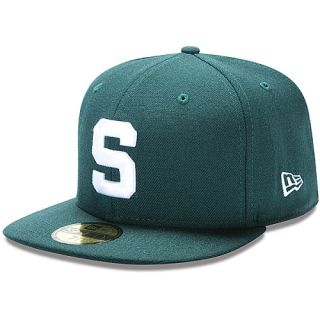 NEW ERA Mens Michigan State Spartans Authentic Collection 59FIFTY Fitted Cap