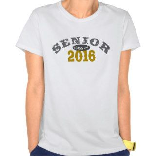 Senior Class of 2016 Yellow Gold T shirt