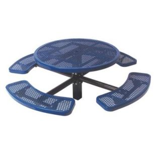 Ultra Play 46 in. Diamond Blue Commercial Park Round Table in Ground PBK338S RDVB