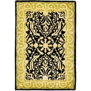 Safavieh Silk Road Black and Ivory 2 ft. x 3 ft. Accent Rug SKR213B 2