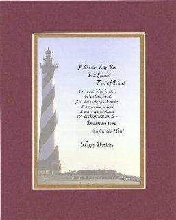 Poem for Brother Birthday   A Brother Like You is a Special Kind of Friend . . . Poem on 11 x 14 inches Double Beveled Matting (Burgundy)   Prints