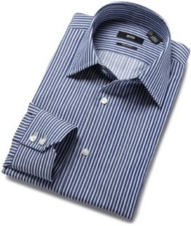 HUGO BOSS Men's Enzo Us Dress Shirt, Navy, 14.5R at  Men�s Clothing store
