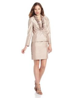 Jessica Howard Women's Petite Split Sleeve Ruffle Collar Jacket With Dress Jessica Howard Dresses For Women