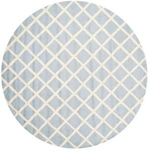 Safavieh Cambridge Light Blue/Ivory 6 ft. x 6 ft. Round Area Rug CAM135A 6R