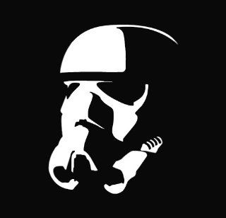 "Star Wars   Stormtrooper Vinyl Die Cut Decal Sticker 5.00"" White Automotive"
