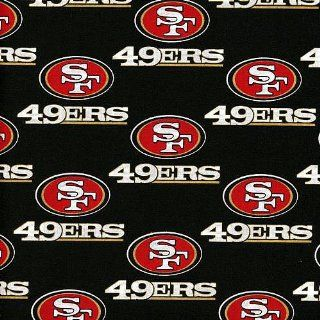 NFL San Francisco 49ers Cotton Print Fabric  Sports Fan Home Decor  Sports & Outdoors