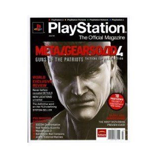 Playstation The Official Magazine; (July 2008) Metal Gear Solid 4 (Guns of the Patriots; World Exclusive Review; PS3 Shooter; Silent Hill; SOCOM, Red Faction; Mercenaries 2) Playstation Books