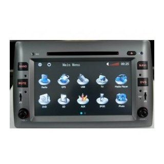 Chilin Car DVD for (2005 2011) Fiat Stilo High Inch Touchscreen Double DIN Car DVD Player & In Dash GPS Navigation System  In Dash Vehicle Gps Units  GPS & Navigation