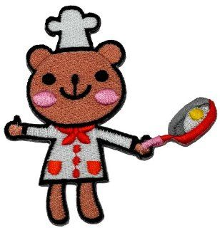 Cute Bear Chef Cook Cartoon DIY Applique Embroidered Sew Iron on Patch