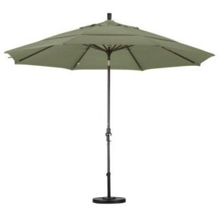 California Umbrella 11 ft. Aluminum Collar Tilt Double Vented Patio Umbrella in Taupe Pacifica GSCU118117 SA61 DWV
