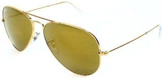 Ray Ban RB3025 Aviator Sunglasses W3276 Gold (Gold Mirror Lens) 58mm Sport, Fitness, Training, Health, Exercise Gear, Shape UP Clothing