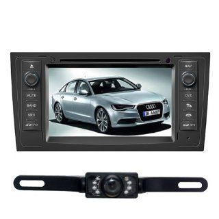 "Tyso For AUDI A6 (1998 2004) 7"" in dash CAR DVD Player GPS Navigation System Rear Camera Radio Ipod Bluetooth Free Map CD7902R  In Dash Vehicle Gps Units  GPS & Navigation"
