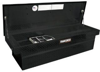 "Lund/Tradesman TALF581PBSF 70"" Full Size Aluminum Cross Bed Push Button Truck Tool Box with Single Foam Filled Lid Automotive"