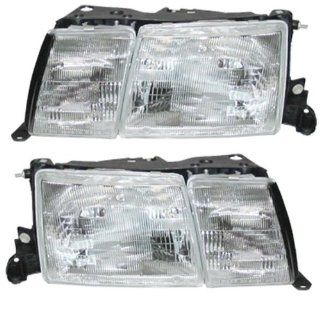 1990 1991 1992 Lexus LS400 LS 400 Headlamp Headlight with Fog Light Front Head Light Lamp Pair Set Right Passenger AND Left Driver Side (90 91 92) Automotive
