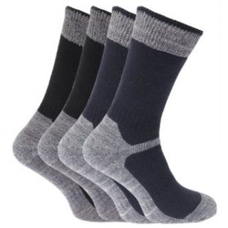 Mens Heavy Weight Reinforced Toe Work Boot Socks (Pack Of 4) Clothing