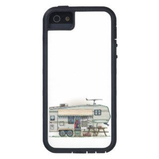 Cute RV Vintage Fifth Wheel Camper Travel Trailer Cover For iPhone 5