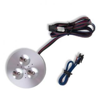 Color Changing RGB LED Puck Light   Under Counter Fixtures