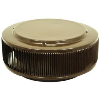 Active Ventilation 12 in. Aluminum Round Retro Fit Roof Vent in Brown AV 12 RF BR