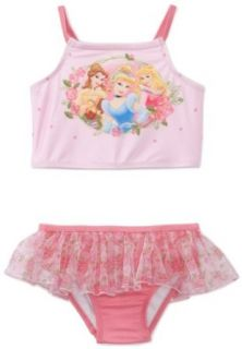 Disney Princess Girls 2 6x Princess 2 Piece Swimsuit, Pink, 2T Clothing