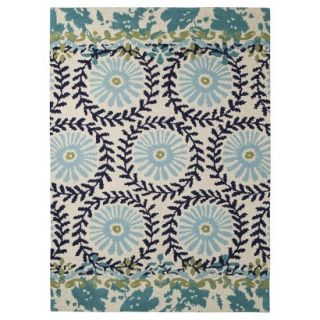 Boho Boutique Medallion Floral Area Rug   Blue (5x7)