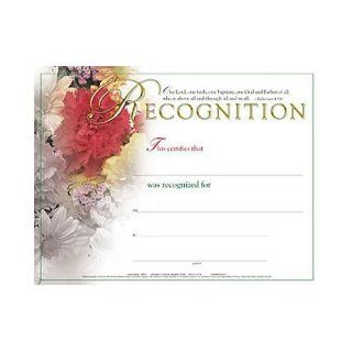 Certificate of Recognition (Package of 6) Flower Bouquet 9780687652921 Books