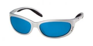 Costa Del Mar Fathom 580 Glass Mirror Lens sunglasses Silver with Blue Mirror lenses Clothing
