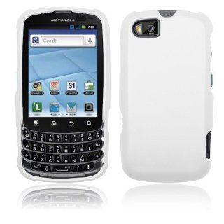 Motorola Admiral XT603   White Hard Plastic Case Cover [AccessoryOne Brand] Cell Phones & Accessories