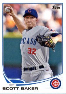 2013 Topps MLB Trading Card (In Protective Screwdown Case) # 609 Scott Baker Chicago Cubs Sports Collectibles