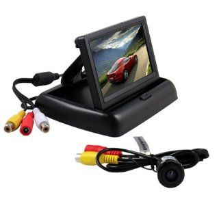 BW� 4.3 Inch Folding TFT LCD Rearview Color Camera Monitor And Car Rear View Camera  Installation Services