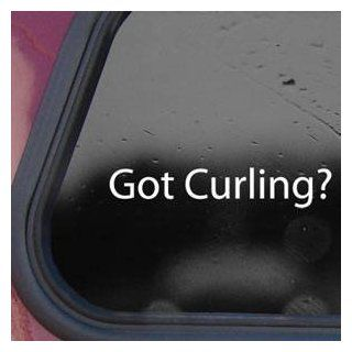 Got Curling? White Sticker Decal Stone Winter Olympics Wall White Sticker Decal   Decorative Wall Appliques