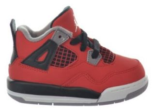 "Jordan 4 Retro (TD) ""Toro Bravo"" Baby Toddlers Shoes Fire Red/White Black Cement Grey 308500 603 10 Basketball Shoes Shoes"
