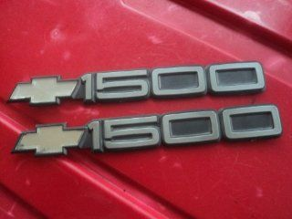 Chevy Silverado Sierra Tahoe 1500 Bowtie Black Chrome Side Fender Rear Trunk Emblem Factory Gm Automotive