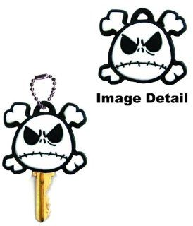 Nightmare Before Christmas Jack Skellington Head with Crossbones Disney Car Truck SUV Boat Home Office Key Chain Key Holder with Chain Automotive