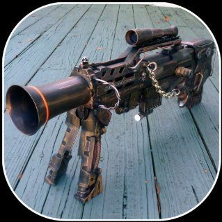 Steampunk gun LONGSHOT CS 6 Victorian Nerf N Strike Zombie Fall Out Halo Soft Dart toy