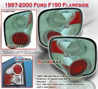 Ford F150 Tail Lights Chrome Clear Altezza Flareside Taillights 1997 1998 1999 2000 2001 2002 2003 97 98 99 00 01 02 03 Automotive