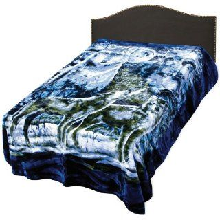 Wolf Pack Queen Size Blanket Sports & Outdoors